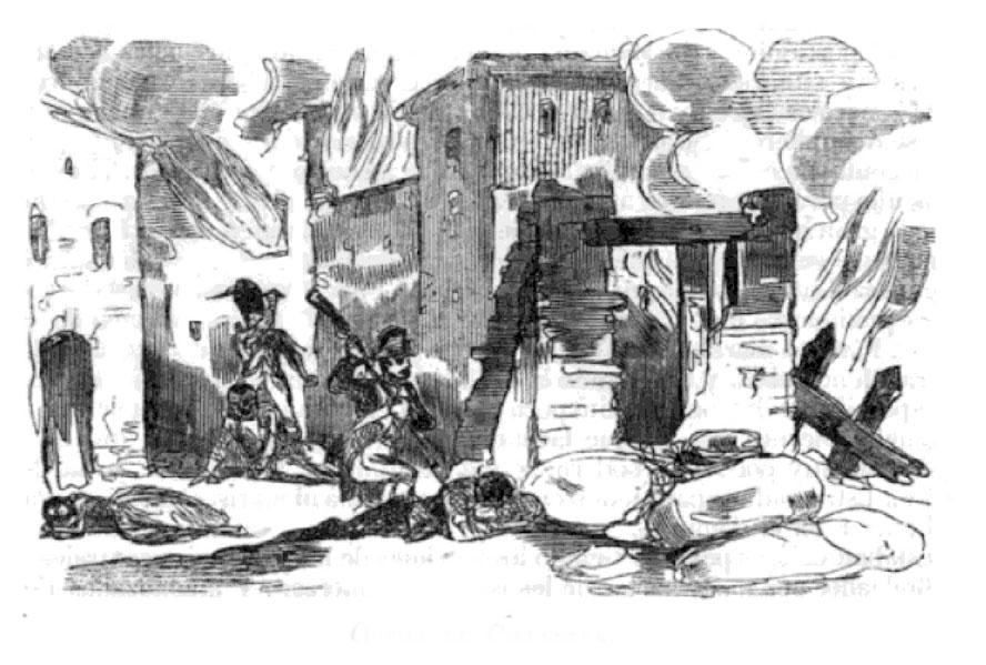 Tropas francesas asaltan Alcalá